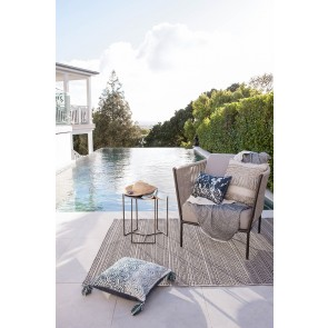 Mulberi In & Outdoor Flax Mendoza Pewter Floor Rug