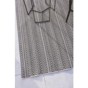 Mulberi In & Outdoor Flax Mendoza Pewter Floor Rug