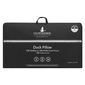 Fairydown Duck Pillow - 75% feather / 25% down
