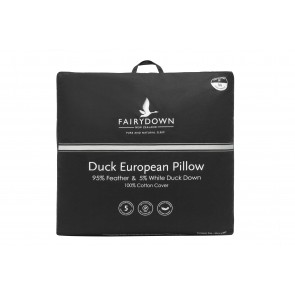 Fairydown Euro Duck Pillow - 95% feather / 5% down