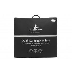 Fairydown Euro Duck Pillow - 95% feather / 5% down
