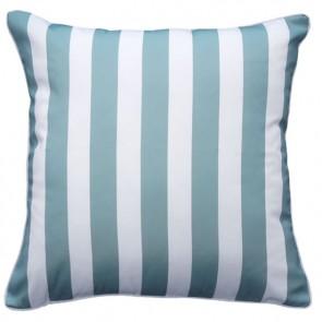 Limon Branch Stripe In & Outdoor Dusky Blue Cushion