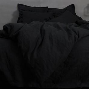 100% Linen Flat Sheet - Black