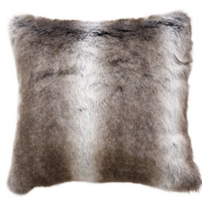 Heirloom Striped Elk faux Fur Square Cushion