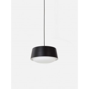 Ellipse Pendant Short Black - Large