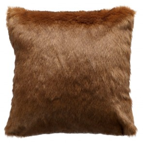 Limon Elmwood Faux Fur Cushion - Rusty Bear