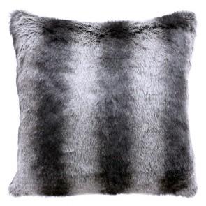 Limon Elmwood Faux Fur Cushion - Striped Badger