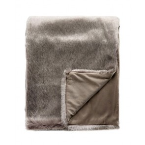 Limon Elmwood Faux Fur Throw - Frosted Chinchilla