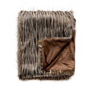 Limon Elmwood Faux Fur Throw - Speckled Kiwi