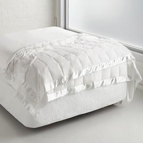 Espresso Feather & Down Blanket by Fairydown - White