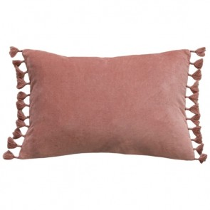 Mulberi Este Muted Coral Cotton Velvet Cushion