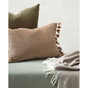 Mulberi Este Nougat Cotton Velvet Cushion
