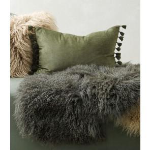 Mulberi Este Artichoke Cotton Velvet Cushion