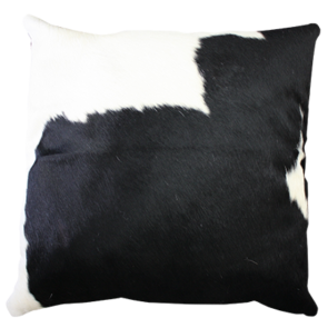 Cowhide Cushion Black/White