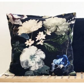 Black Botanical Cushion
