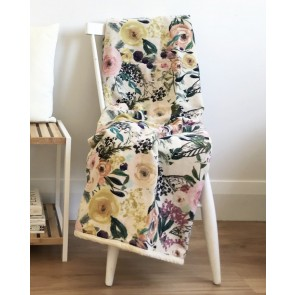 Off-White Botanical Throw