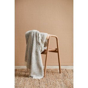 100% Wool Featherston Throw by Mulberi - Oatmeal