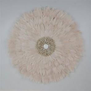 Feather Circle Mocha 65cmD