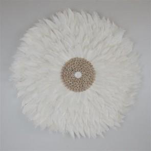 Feather Circle White 65cmD