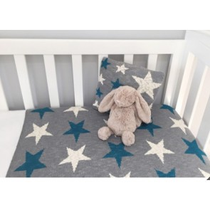 Blue Star Baby Blanket - 100% Cotton