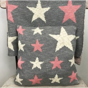 Baby Cushion Pink Star