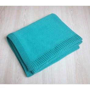 Aqua Knitted Throw
