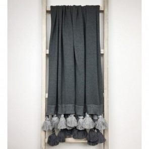 Grey Knitted Design Throw