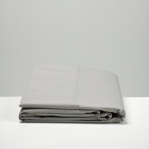 Smoke Grey Cotton Flat Sheet