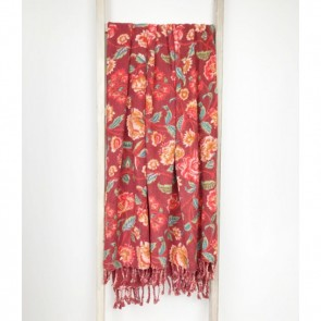 Lily Red Throw