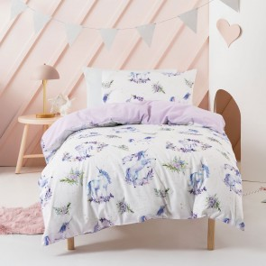Floral Unicorn Duvet Cover Set by Squiggles