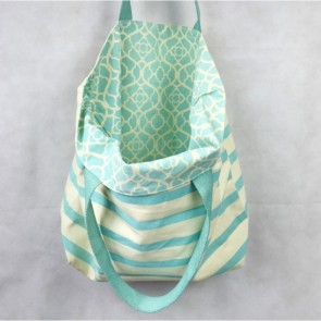 Tote Bag Striped Mosaic Shell