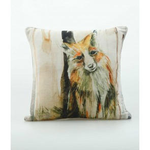 Woodland Print Fox Cushion by MM Linen