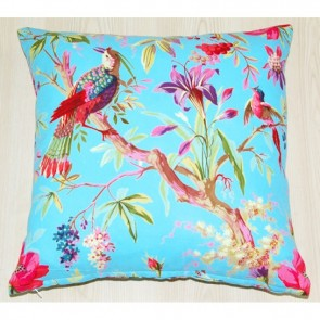 Paradise Blue Cotton Cushion