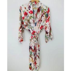 Paradise Diamond Kimono Robe - White