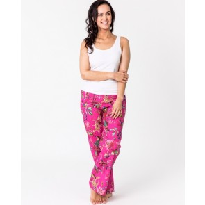 Bird of Paradise Hot Pink Lounge Pants