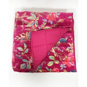 Hot Pink Paradise Velvet Throw
