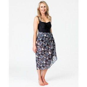 Poppy Charcoal Sarong