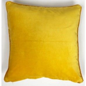 Gold Lace Velvet Cushion