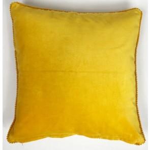 Gold Lace Velvet Cushion