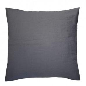100% Linen European Pillowcase by Bambury - Charcoal
