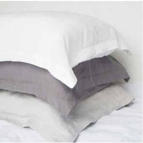100% Linen Pillowcase Pair White - Lodge Size