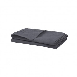 Charcoal French Linen Napkins by Bambury - 4 Pack