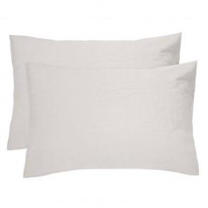 100% French Flax Linen Pillowcase Pair by Bambury - Pebble