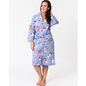 Vintage Floral Blue Kimono
