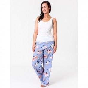 Lounge Pants Vintage Floral Blue