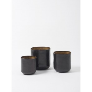 Gava Grande Planter Set of 3 - Antique Brown