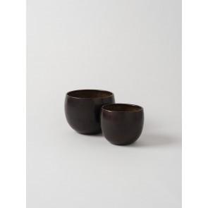 Gava Planter Set of 2 - Antique Brown