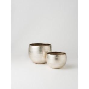 Gava Planter Set of 2 - Antique Silver