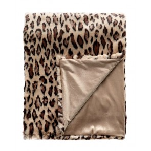 Limon Elmwood Faux Fur Throw - Golden Leopard