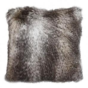 Heirloom Golden Pheasant Faux Fur Square Cushion